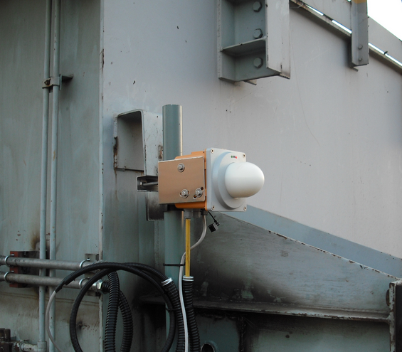 Измерение высоты положения спредера для контейнерных козловых кранов