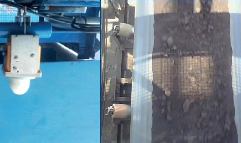 Обнаружение сыпучих материалов на транспортном конвеере