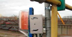 Система предотвращения столкновений кранов с проектным измерением расстояния
