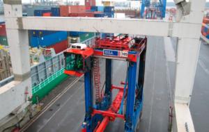Определение положения контейнеровоза для разгрузки судов