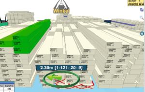 Определение положения мостовых кранов в системе координат