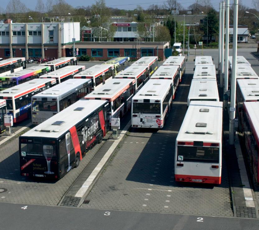 Определение положения автобусов в депо